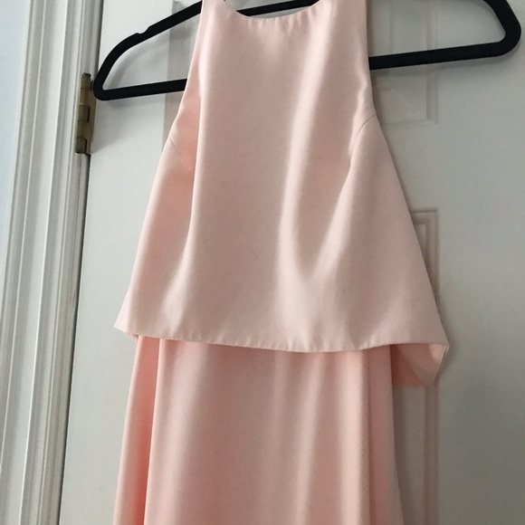 BHLDN Dresses & Skirts - Blush maxi bridesmaid dress